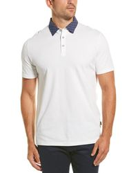 Stone Rose Dropped-shoulder Polo Shirt - White