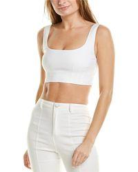 A.L.C. Kamila Linen-blend Top - White