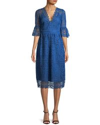 Temperley London - Titania Lace Sleeved Dress - Lyst