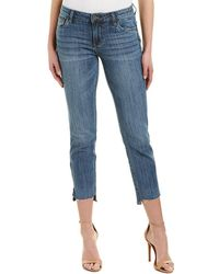 Kut From The Kloth - Reese Embraced Ankle Straight Leg - Lyst