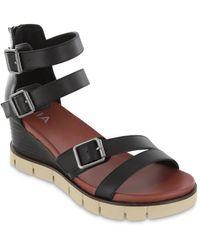 MIA Darcel Wedge Sandal - Black