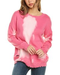 Fate Bleach Tie-dye Sweater - Pink