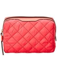 Tory Burch Perry Quilted Nylon Cosmetics Case - Pink