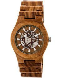 Earth Wood Unisex Gobi Watch - Brown