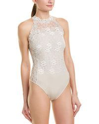 Josie Natori Element Bodysuit - White