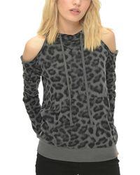 Splendid - Cold-shoulder Sweatshirt - Lyst