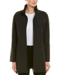 Cinzia Rocca Stand-up Collar Coat - Black