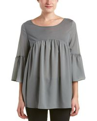 French Connection - Polly Plains Shirred Blouse - Lyst