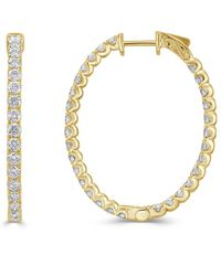 Sabrina Designs - 18k Diamond Inside Out Hoops - Lyst