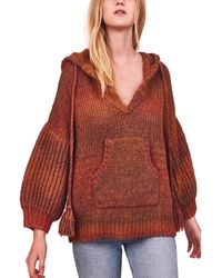 LoveShackFancy Remington Alpaca & Wool-blend Hoodie - Red