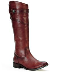 Frye Molly Button Leather Boot - Red