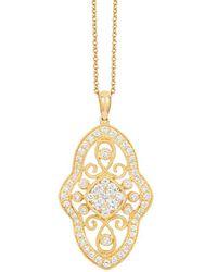 Le Vian ? 14k Honey Gold? 0.90 Ct. Tw. Diamond Pendant - Metallic