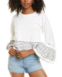 See By Chloé Scallop Sleeve Haut Top - White