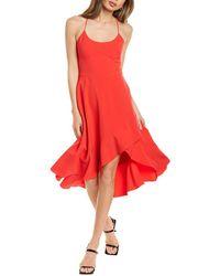 Black Halo Marie Midi Dress - Red