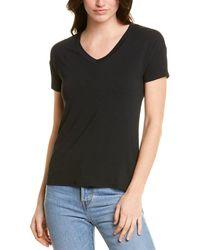 Catherine Malandrino V-neck T-shirt - Black