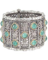 Konstantino Andromeda 18k & Silver Lapis Doublet Bracelet - Metallic
