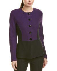 St. John Wool-blend Blazer - Purple