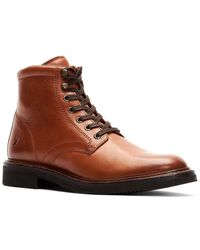 Frye Gordon Lace-up Leather Bootie - Brown