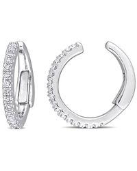 Rina Limor 14k 0.17 Ct. Tw. Diamond Clip-on Earrings - Metallic