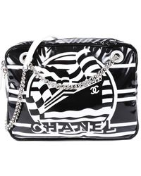Chanel Black Vinyl La Pausa Camera Bag