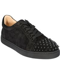 Christian Louboutin Vieira Spike Leather Sneaker - Black