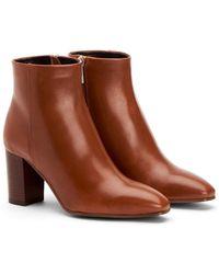 Aquatalia Florita Weatherproof Square - Toe Block - Heel Booties - Black
