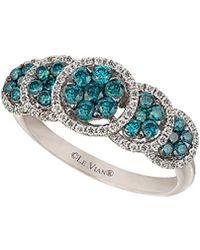 Le Vian - ® Exotics® 14k 0.93 Ct. Tw. White & Blue Diamond Ring - Lyst