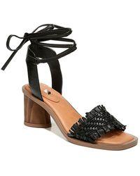 Franco Sarto Rina Leather Espadrille - Black