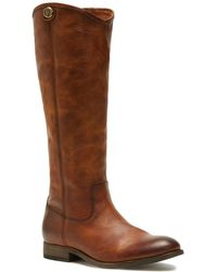 Frye Melissa Button 2 Leather Boot - Brown