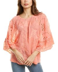 Johnny Was Roman Blouse - Red