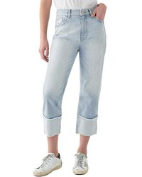 DL1961 Jerry Cropped High-rise Vintage Straight Leg - Blue