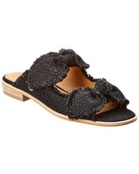 Bill Blass Nora Canvas Sandal - Black