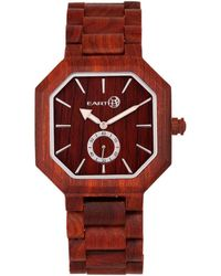 Earth Wood Unisex Acadia Watch - Red