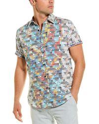 Robert Graham Lerner Woven Shirt - Blue
