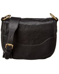 Frye Lucy Leather Saddle Bag - Black