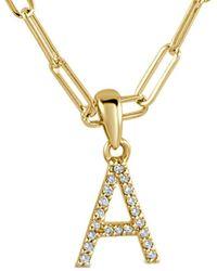 Sabrina Designs 14k 0.08 Ct. Tw. Diamond A-z Initial Necklace (a-z) - Metallic