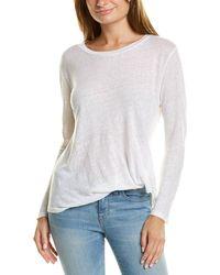 Young Fabulous & Broke Twister Linen T-shirt - White
