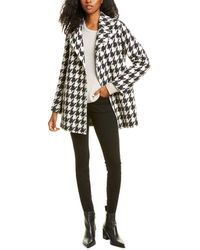 Theory Belted Overlay Wool & Cashmere-blend Coat - White