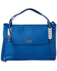 Versace Leather Satchel - Blue