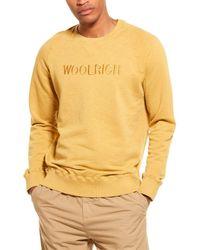 Woolrich Slub Fleece Crewneck Jumper - Yellow