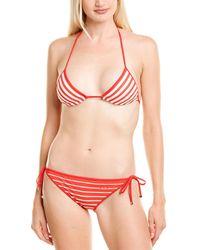 Valentino 2pc Halter Bikini Set - Red