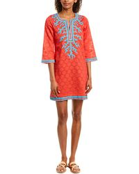 Sulu Collection Shift Dress - Red