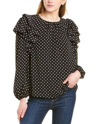 1.STATE Tiered Ruffle Top - Black