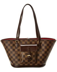 Louis Vuitton Damier Ebene Canvas Manosque Pm - Brown