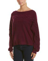 White + Warren Dolman Cashmere Sweater - Purple