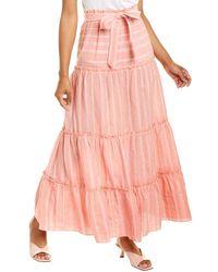 lemlem Taytu Pull-on Maxi Skirt - Pink