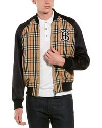 Burberry Monogram Motif Vintage Check Nylon Bomber Jacket - Multicolor