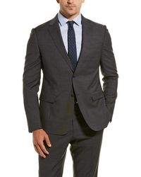 Z Zegna Z Zenga 2pc Wool Suit With Flat Pant - Grey