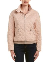 Moncler Puffer Silk-lined Jacket - Pink