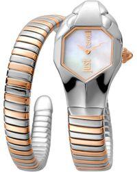 Roberto Cavalli Women's Glam Chic Two-tone Cuff Watch, 22mm - Multicolor